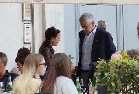 Azzurra Caltagirone, Pier Ferdinando Casini - Roma - 26-10-2013 - Pranzo in famiglia dal Bolognese per Pier Ferdinando Casini