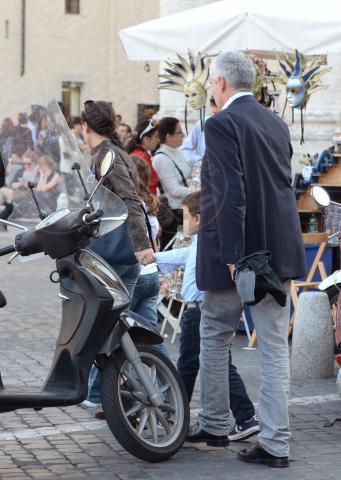 Caterina Casini, Francesco Casini, Pier Ferdinando Casini - Roma - 26-10-2013 - Pranzo in famiglia dal Bolognese per Pier Ferdinando Casini