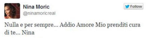 Nina Moric - Los Angeles - 29-10-2013 - Nina Moric lascia Massimiliano Dossi su Twitter