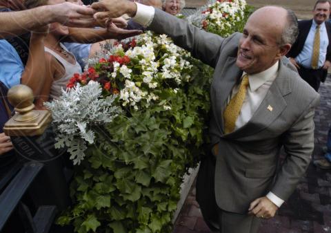 Rudolph Giuliani - Saratoga Springs - 16-08-2007 - Elezioni sindaco di New York: il favorito è Bill De Blasio