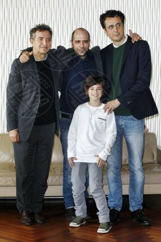 Robert Dancs, Gennaro Nunziante, Checco Zalone, Pietro Valsecchi - Milano - 30-10-2013 - Checco Zalone porta a Milano un Sole a catinelle