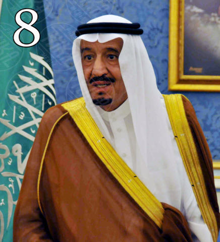Saudi King Abdullah bin Abdulaziz Al Saud - 06-11-2011 - Forbes: Vladimir Putin è l'uomo più potente al mondo