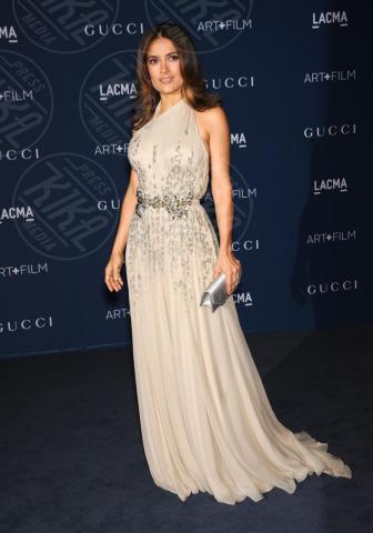 Salma Hayek - Los Angeles - 02-11-2013 - Los Angeles: star del cinema e dell'arte riunite per il LACMA