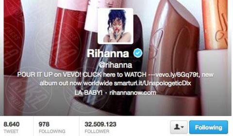 Rihanna - 04-11-2013 - Katy Perry è in assoluto la persona più seguita al mondo