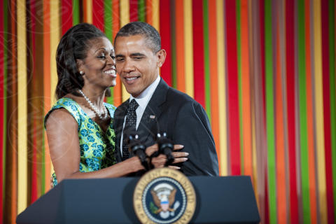 Michelle Obama, Barack Obama - Washington - 20-08-2012 - Barack Obama punta dritto sull'aumento del salario minimo
