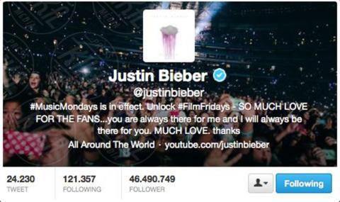 Justin Bieber - 04-11-2013 - Katy Perry è in assoluto la persona più seguita al mondo