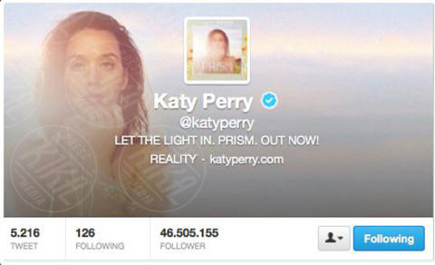 Katy Perry - 04-11-2013 - Katy Perry è in assoluto la persona più seguita al mondo