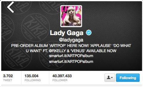 Lady Gaga - 04-11-2013 - Katy Perry è in assoluto la persona più seguita al mondo