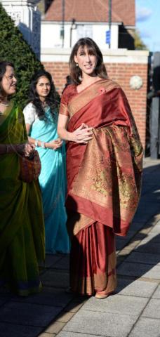 Samantha Cameron - Londra - 04-11-2013 - David e Samantha Cameron indiani per un giorno