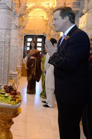 David Cameron - Londra - 04-11-2013 - David e Samantha Cameron indiani per un giorno