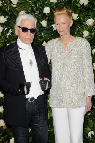 Karl Lagerfeld, Tilda Swinton - New York - 05-11-2013 - Il MoMa regala una serata tributo a Tilda Swinton