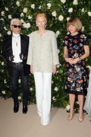 Karl Lagerfeld, Anna Wintour, Tilda Swinton - New York - 05-11-2013 - Il MoMa regala una serata tributo a Tilda Swinton