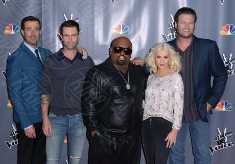 Cee Lo Green, Carson Daly, Adam Levine, Blake Shelton, Christina Aguilera - Universal City - 07-11-2013 - Fermate Christina Aguilera: la cantante è sempre più magra