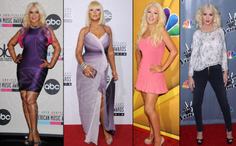 Christina Aguilera - Universal City - 08-11-2013 - Fermate Christina Aguilera: la cantante è sempre più magra
