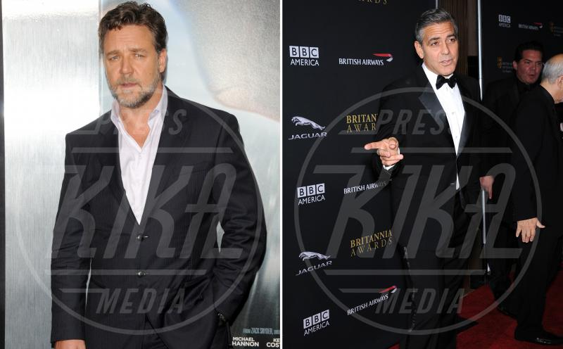 Russell Crowe, George Clooney - Los Angeles - 13-11-2013 - Amici mai, per chi si odia come noi!