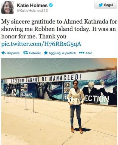 Katie Holmes - Los Angeles - 13-11-2013 - Dillo con un tweet: Asia Argento, che bomba sexy!