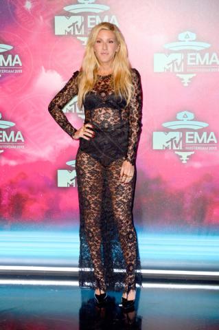 Ellie Goulding - Amsterdam - 10-11-2013 - Sensuale e trasparente: quest'anno il pizzo è traforato