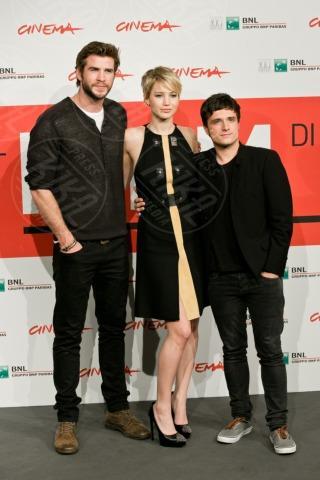 Liam Hemsworth, Jennifer Lawrence, Josh Hutcherson - Roma - 13-11-2013 - Festival di Roma: finalmente la tanto attesa Jennifer Lawrence