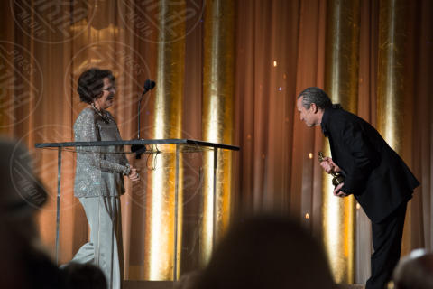Jeffrey Kurland, Claudia Cardinale - Hollywood - 16-11-2013 - Angelina Jolie premiata per il suo impegno umanitario