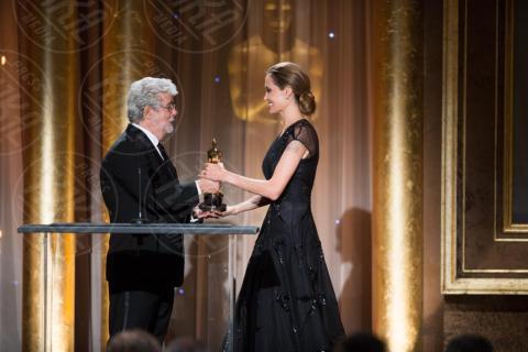 George Lucas, Angelina Jolie - Hollywood - 16-11-2013 - Angelina Jolie premiata per il suo impegno umanitario
