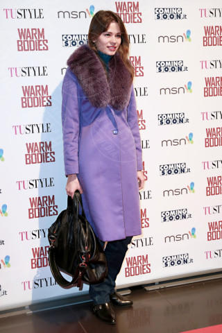Flavia Maria Galova - Roma - 16-01-2013 - L'inverno è più romantico con il cappotto rosa!