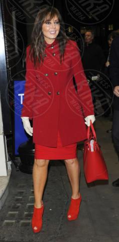 Carol Vorderman - Londra - 26-02-2013 - Sarà un inverno caldo… con un cappotto rosso!