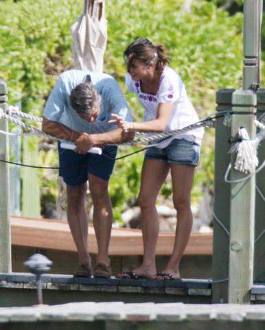 Elisabetta Canalis, George Clooney - Hawaii - 01-01-2000 - Tutti gli uomini di Elisabetta Canalis