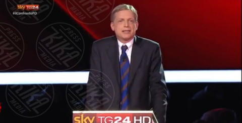 Gianni Cuperlo - Milano - 29-11-2013 - I magnifici tre del Pd a confronto tv per la Segreteria