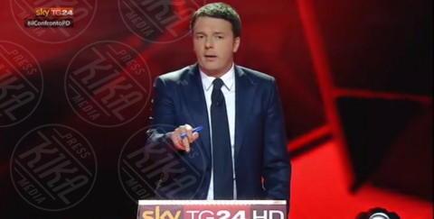 Matteo Renzi - Milano - 29-11-2013 - I magnifici tre del Pd a confronto tv per la Segreteria