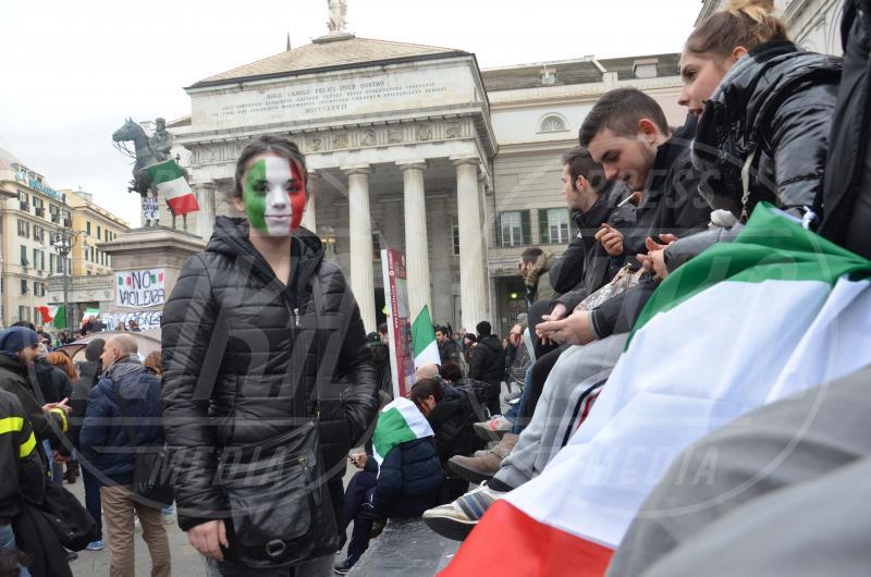 Movimento dei Forconi - Genova - Genova - 09-12-2013 - I volti delle giovane ragazze del movimento Forconi