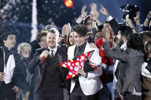 Michele Bravi, Alessandro Cattelan - Milano - 13-12-2013 - X-Factor 7: vincono Morgan e Michele Bravi