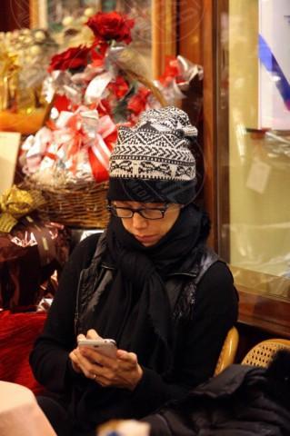 Nancy Brilli - Firenze - 17-12-2013 - Gli smartphone influenzeranno l'evoluzione dell'uomo