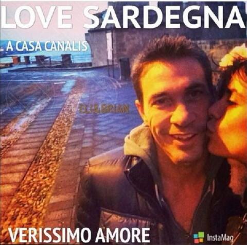Brian Perri, Elisabetta Canalis - Los Angeles - 27-12-2013 - Dillo con un tweet: trionfa l'amore, in tutte le forme