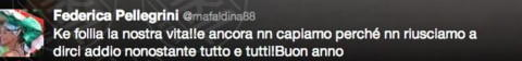 Federica Pellegrini - Los Angeles - 02-01-2014 - Dillo con un tweet: Pellegrini-Magnini ancora insieme