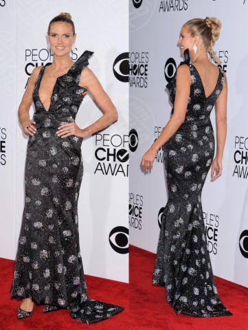 Heidi Klum - 09-01-2014 - Vade retro abito! Le scelte ai People's Choice Awards