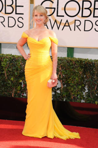 Melissa Rauch - Beverly Hills - 11-01-2014 - Golden Globe 2014: gli arrivi sul red carpet