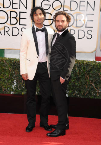 Kunal Nayyar, Johnny Galecki - Beverly Hills - 11-01-2014 - Golden Globe 2014: gli arrivi sul red carpet