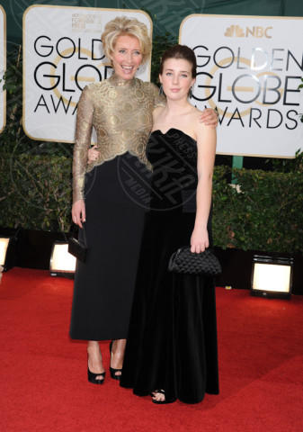 Gaia Romilly Wise, Emma Thompson - Beverly Hills - 13-01-2014 - Golden Globe 2014: gli arrivi sul red carpet