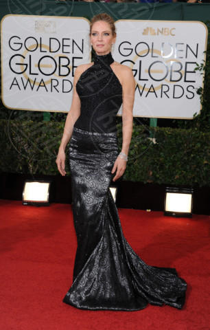 Uma Thurman - Beverly Hills - 13-01-2014 - Vade retro abito! Le scelte ai Golden Globe 2014