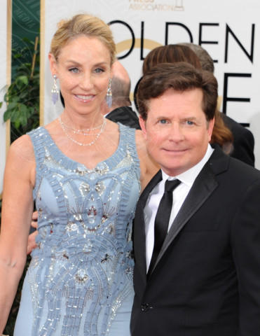 Tracy Pollen, Michael J.  Fox - Beverly Hills - 13-01-2014 - Golden Globe 2014: gli arrivi sul red carpet