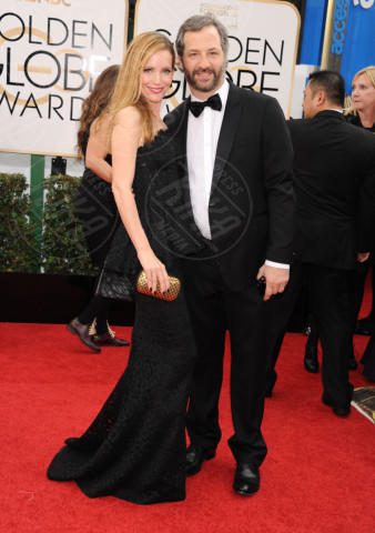 Judd Apatow, Leslie Mann - Beverly Hills - 13-01-2014 - Golden Globe 2014: gli arrivi sul red carpet