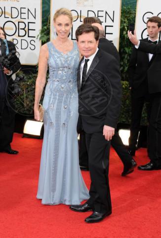 Tracy Pollan, Michael J.  Fox - Beverly Hills - 13-01-2014 - Golden Globe 2014: gli arrivi sul red carpet