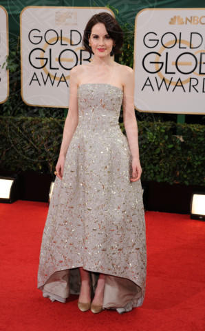Michelle Dockery - Beverly Hills - 13-01-2014 - Golden Globe 2014: gli arrivi sul red carpet