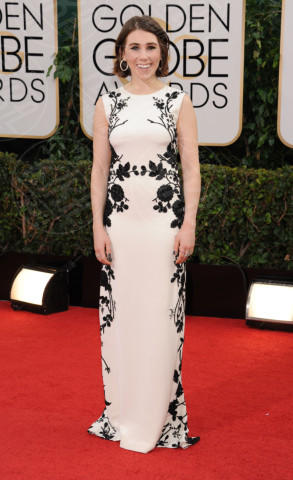 Lena Dunham - Beverly Hills - 13-01-2014 - Golden Globe 2014: gli arrivi sul red carpet