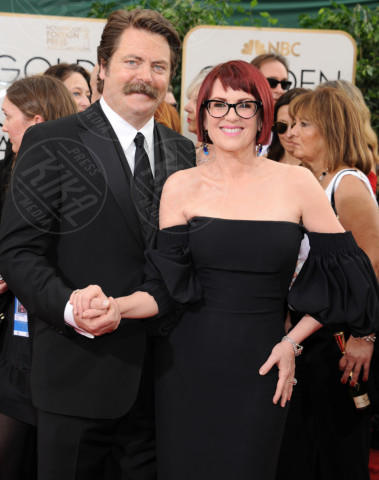 Nick Offerman, Megan Mullally - Beverly Hills - 13-01-2014 - Golden Globe 2014: gli arrivi sul red carpet