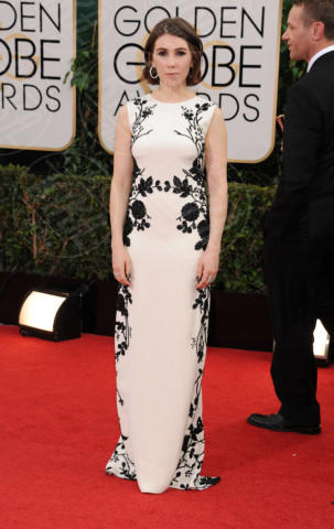 Lena Dunham - Beverly Hills - 13-01-2014 - Golden Globe 2014, il red carpet si veste retrò
