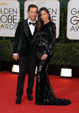 Camila Alves, Matthew McConaughey - Beverly Hills - 13-01-2014 - Golden Globe 2014: gli arrivi sul red carpet