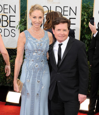 Tracy Pollan, Michael J.  Fox - Beverly Hills - 13-01-2014 - Golden Globe 2014: gli arrivi sul red carpet