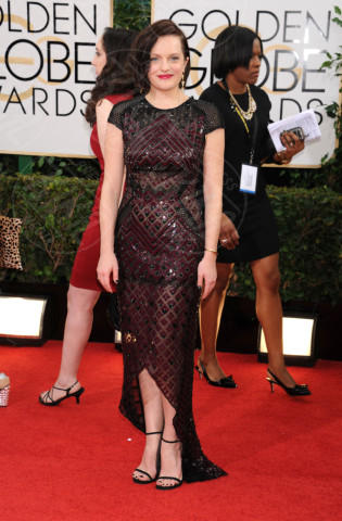 Elisabeth Moss - Beverly Hills - 13-01-2014 - Golden Globe 2014: gli arrivi sul red carpet