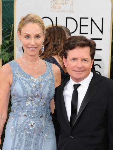 Tracy Pollen, Michael J.  Fox - Beverly Hills - 13-01-2014 - Golden Globe 2014: gli arrivi sul red carpet